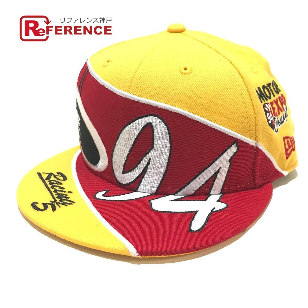 Supreme シュプリーム キャップ Racing New Era ニューエラ 19SS 帽子 イエローxレッド メンズ 未使用【中古】
