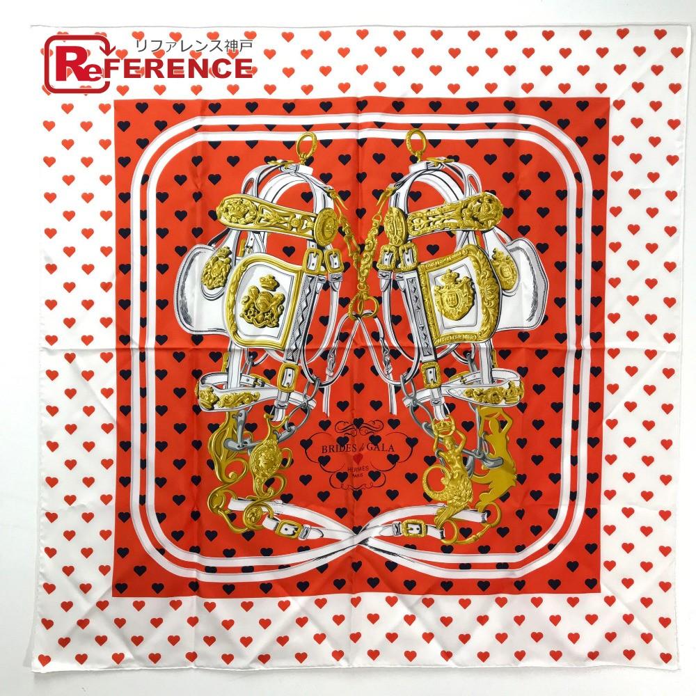 HERMES エルメス カレ90 BRIDES de GALA LOVE(ブリッド・ドゥ・ガラ・ラヴ)  スカーフ シルク マルチカラー ユニセックス 未使用【中古】