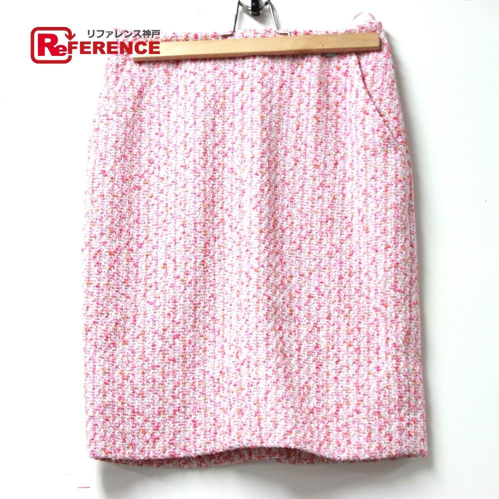 CHANEL シャネル アパレル 膝丈 ボトムス 16S スカート ツイード ピンク レディース【中古】