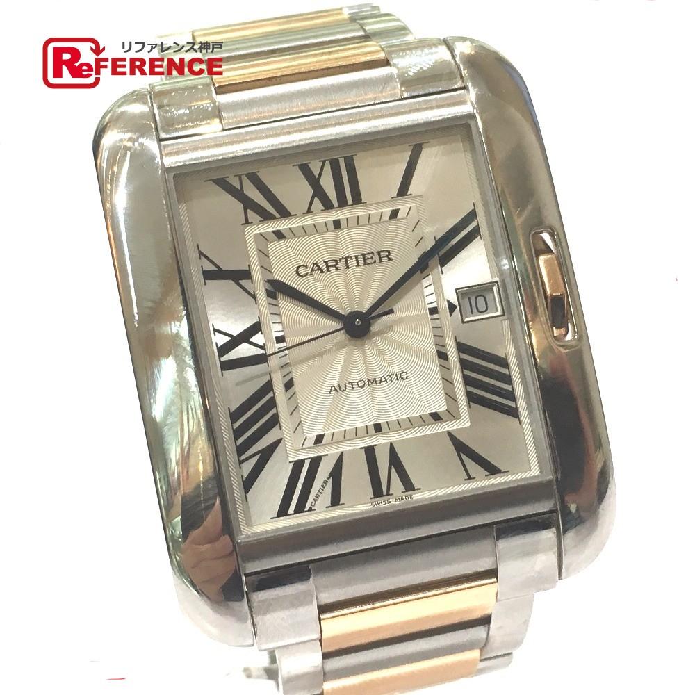 CARTIER カルティエ W5310006 メンズウォッチ 時計 タンク アングレーズ XL TANK ANGLAISE 腕時計 SS / スピネル / 18KPG シルバー メンズ【中古】