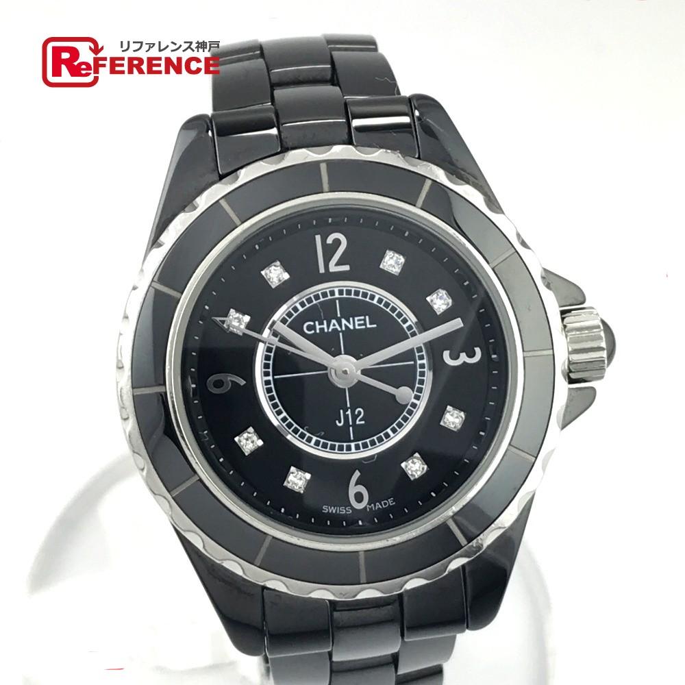 CHANEL シャネル H2569 レディースウォッチ 時計 J12 8Pダイヤ 腕時計 ブラックセラミック ブラック レディース【中古】