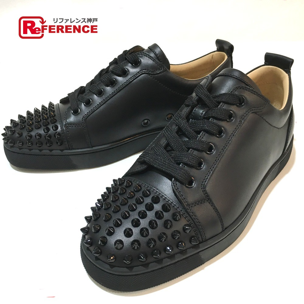 best loved 0a9d4 1b0d1 Christian Louboutin クリスチャンルブタン 1130573 men's shoes shoes spikes studs  apparel sneakers leather black men mint condition