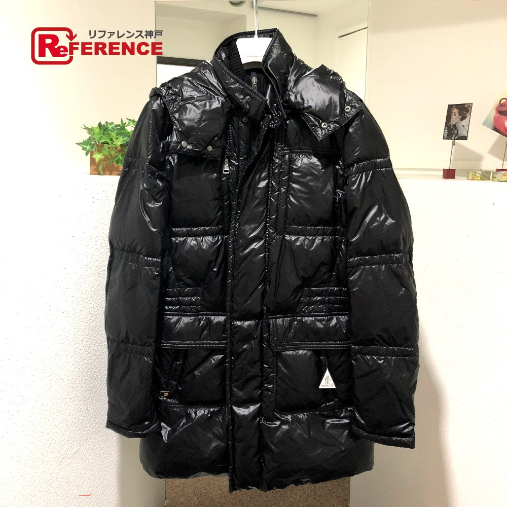 MONCLER Monk rail down coat BAHR (bar) light down down jacket black men mint condition