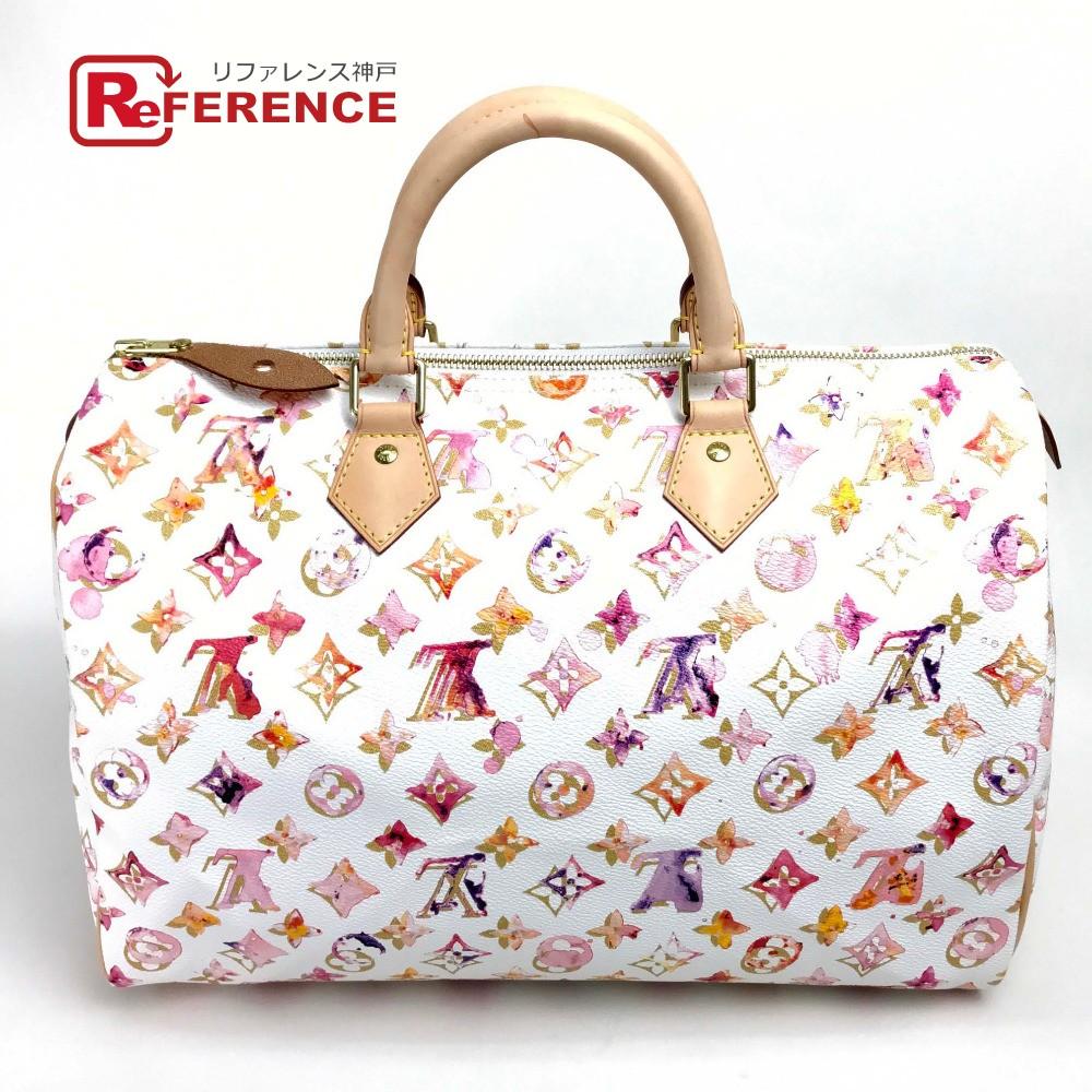 Louis Vuitton M95752 Mini Boston Bag Sdy 35 Monogram Watercolor Painting Handbag Canvas Bronn Uni
