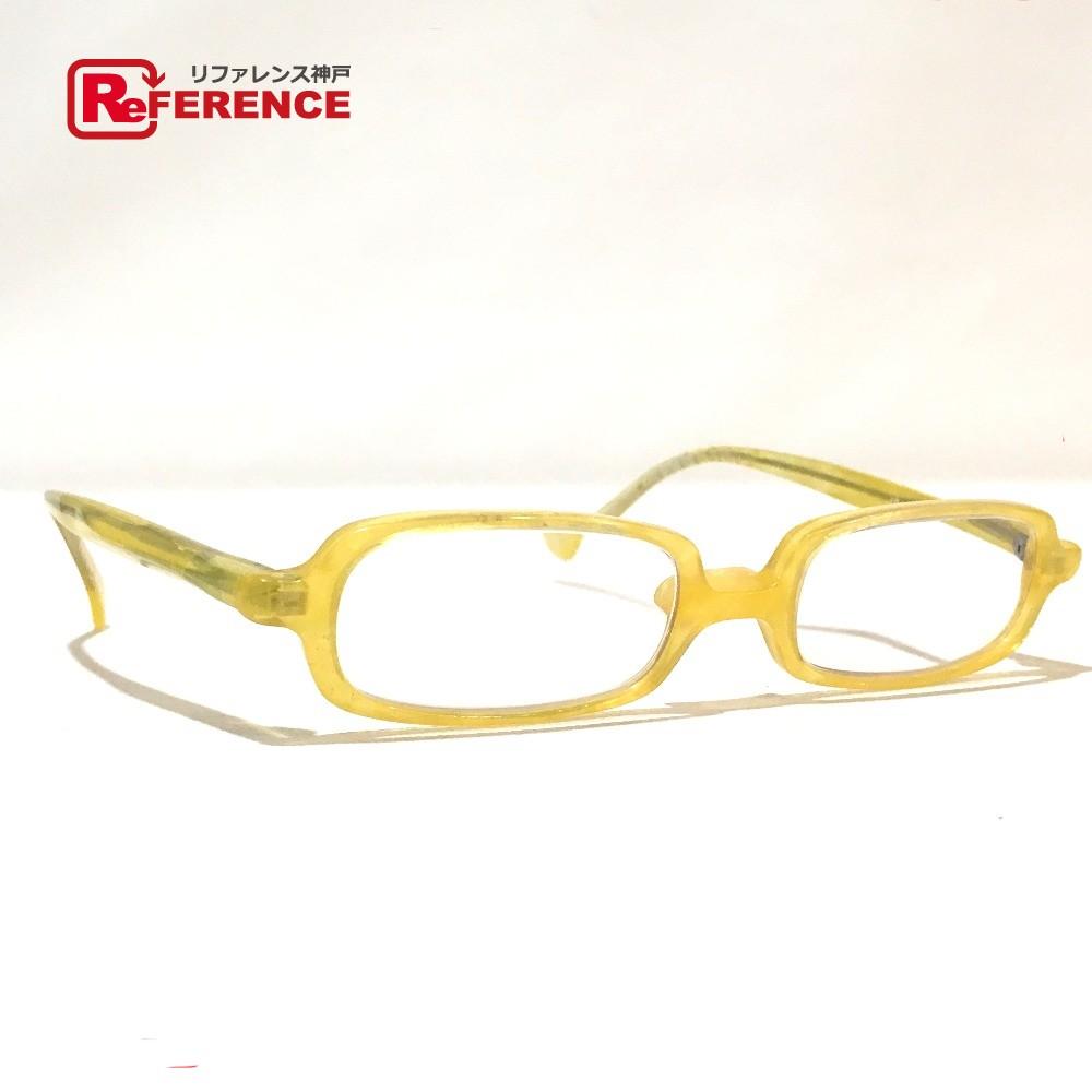 alain mikli アランミクリ メンズ レディース 度入り メガネ 眼鏡 プラスチック イエロー ユニセックス【中古】