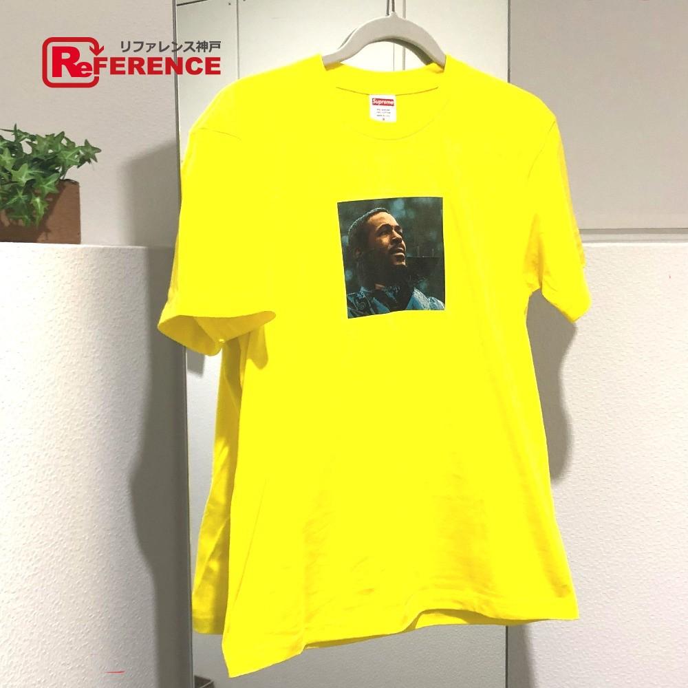 Supreme シュプリーム Marvin Gaye Tee マーヴィンゲイフォト プリント Tシャツ 半袖シャツ イエロー メンズ 未使用【中古】
