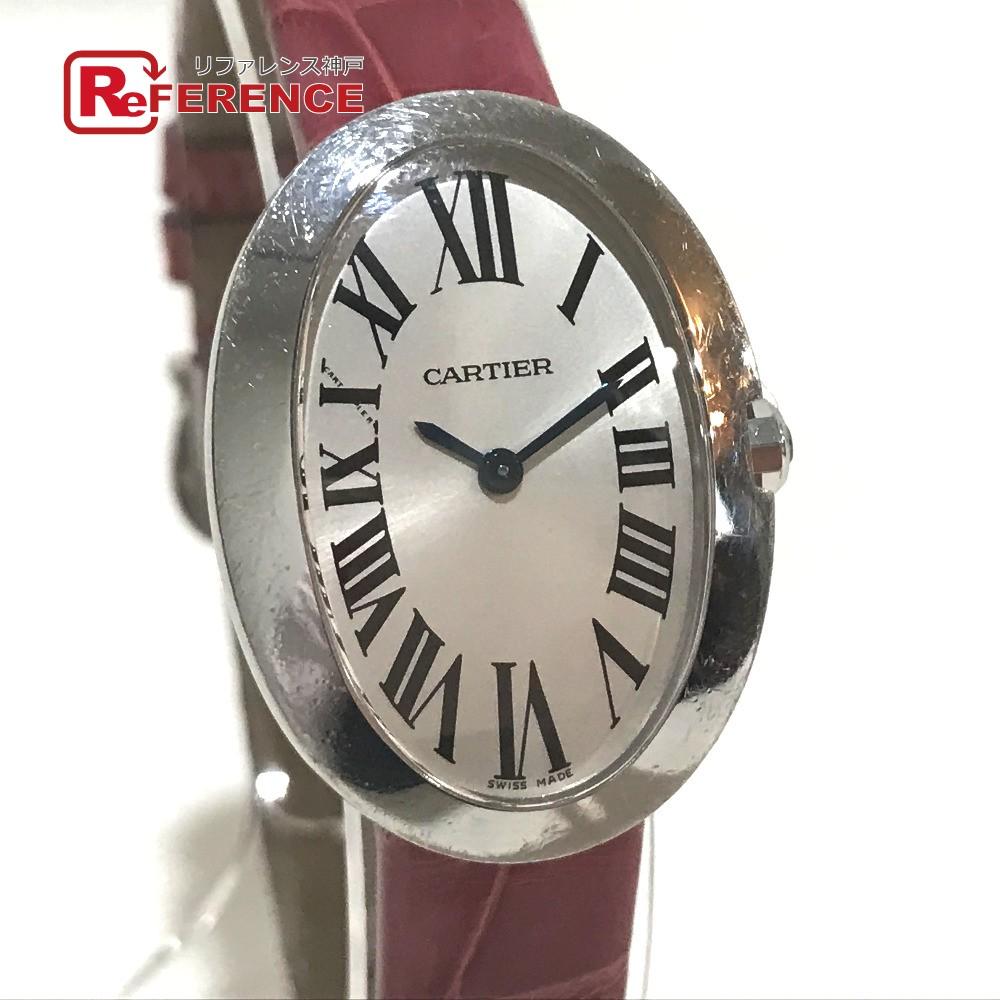 CARTIER カルティエ W8000003 レディース腕時計 ベニュワール SM ローマ文字 腕時計 K18WG / 革ベルト ホワイトゴールド レディース【中古】