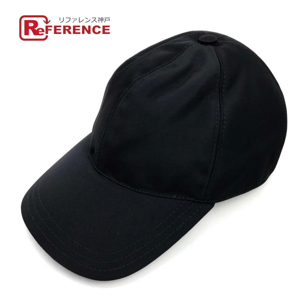 PRADA プラダ 2HC274 メンズ レディース ベースボールキャップ サイド プレートロゴ 帽子 ナイロン ブラック ユニセックス 未使用 現行品【中古】