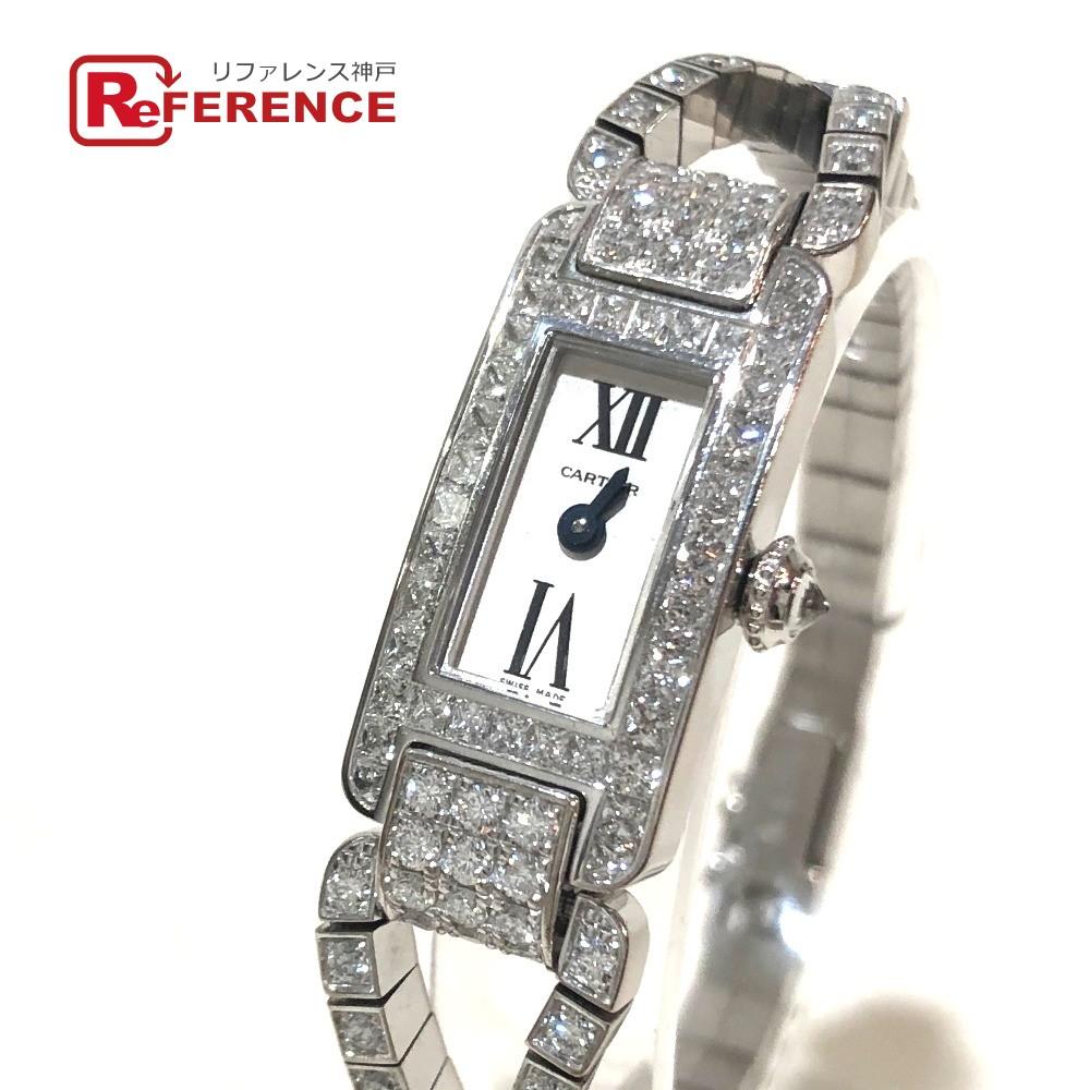 CARTIER カルティエ レディース腕時計 コルドンドゥ 腕時計 K18WG / ダイヤモンド シルバー レディース 新品同様【中古】