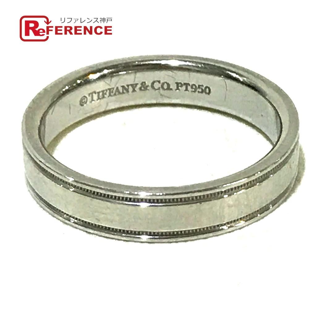 TIFFANY&Co. ティファニー 指輪 ジュエリー ミルグレイン リング・指輪 プラチナPT950 14号 プラチナ【中古】