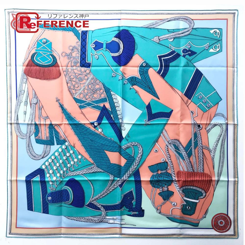 HERMES エルメス  カレ90 Zouaves et Dragons(ズアヴとドラゴン) 2019春夏コレクション スカーフ シルク  グリーン レディース 未使用 現行品【中古】