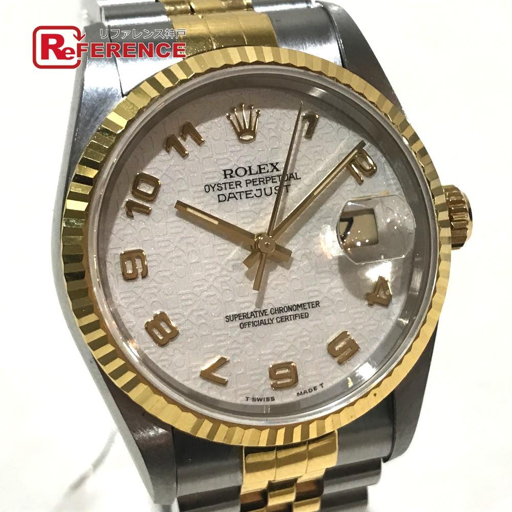 日本最大級 ROLEX ロレックス メンズ【】 16233 ロレックス メンズ腕時計 デイトジャスト コンピューター文字盤 腕時計 デイトジャスト K18YG/ SS イエローゴールド メンズ【】, ヤスマチ:c2219d06 --- baecker-innung-westfalen-sued.de