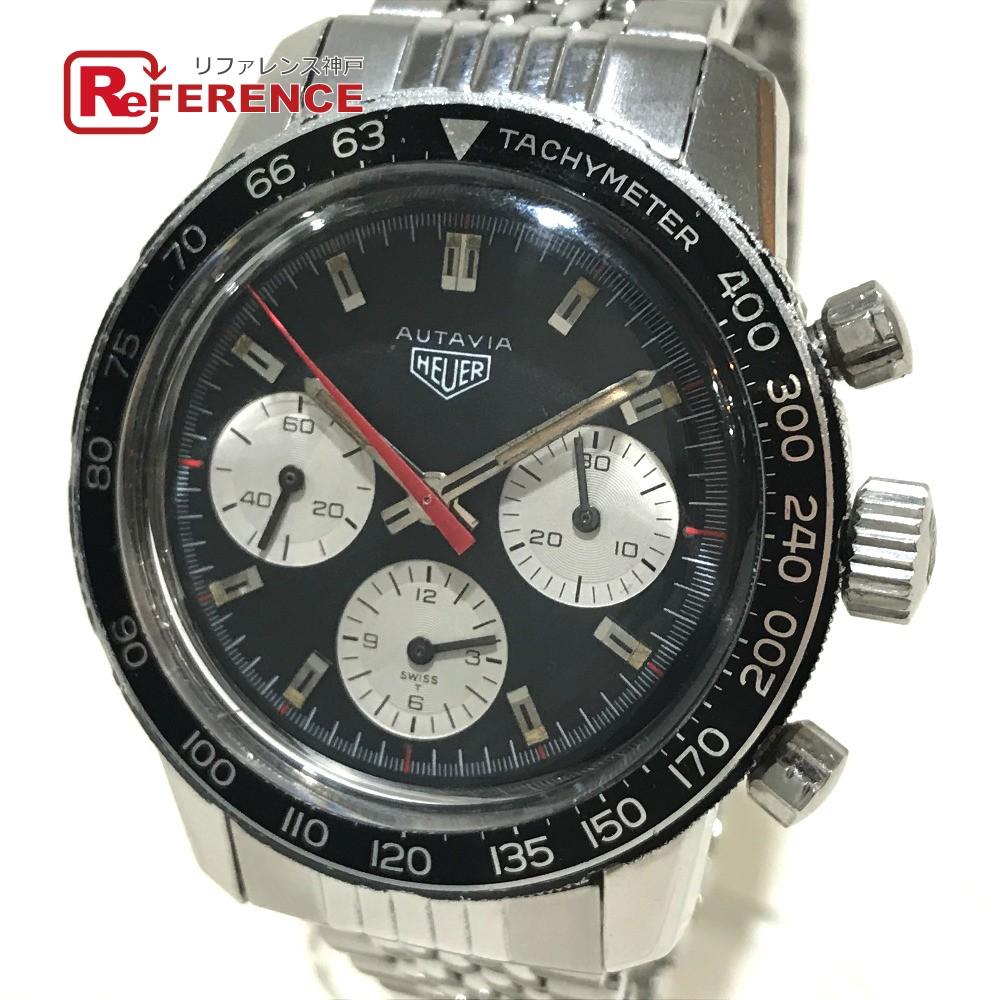 Heuer ホイヤー 2446 メンズ腕時計 オータビア アンティーク クロノグラフ ヴァルジュー72 腕時計 SS シルバー メンズ【中古】