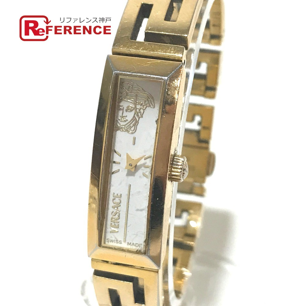 VERSACE ヴェルサーチ RSQ90 レディース腕時計 バングルウォッチ メデューサ 腕時計 GP ゴールド レディース【中古】