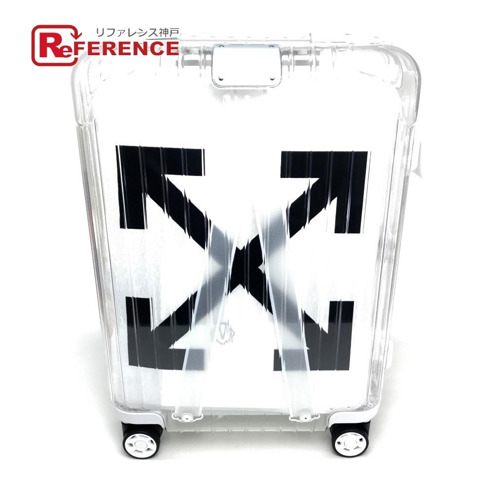 "RIMOWA リモワ 8329000291 ""See Through"" White スーツケース Off-White(オフワワイト) キャリーバッグ ポリカーボネート クリア×ホワイト メンズ 未使用【中古】"