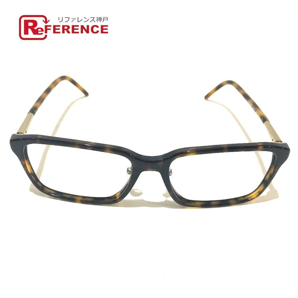 BURBERRY バーバリー 2173F アイウェア 伊達メガネ スクエア型 デミ柄 眼鏡 プラスチックフレーム ブラウン系 ユニセックス【中古】