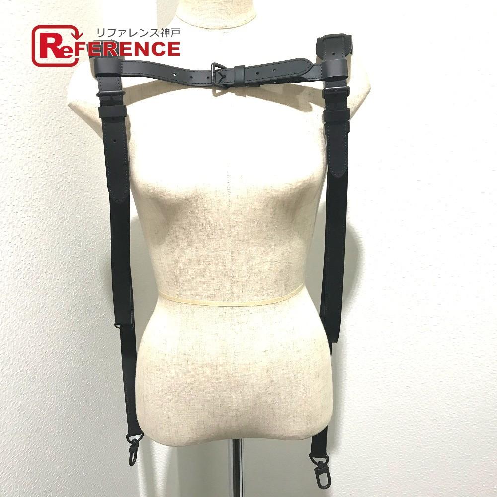 LOUIS VUITTON ルイヴィトン ファッション小物 革小物 両肩 ベルト式 ショルダーストラップ レザー ブラック ユニセックス 新品同様【中古】