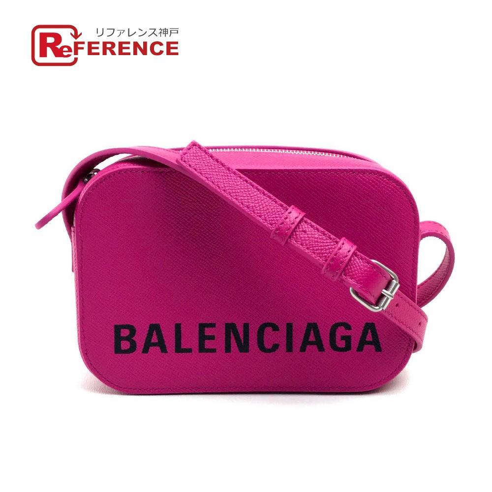 BALENCIAGA バレンシアガ 558171 ポシェット ロゴ ヴィル カメラ バッグ XS VILLE CAMELA ショルダーバッグ レザー ピンク レディース 未使用【中古】