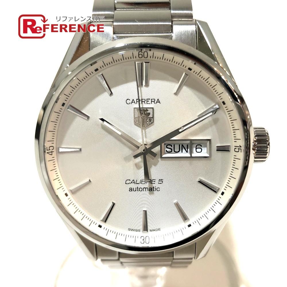 TAG HEUER タグホイヤー WAR201B カレラ キャリバー5 メンズ腕時計 デイデイト 腕時計 SS シルバー メンズ 新品同様【中古】