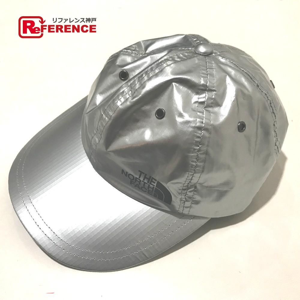 Supreme シュプリーム SUPREME×THE NORTH FACE 18SS Metallic 6-Panel キャップ 帽子 ノースフェイス コラボ 帽子 ナイロン シルバー ユニセックス 新品同様【中古】