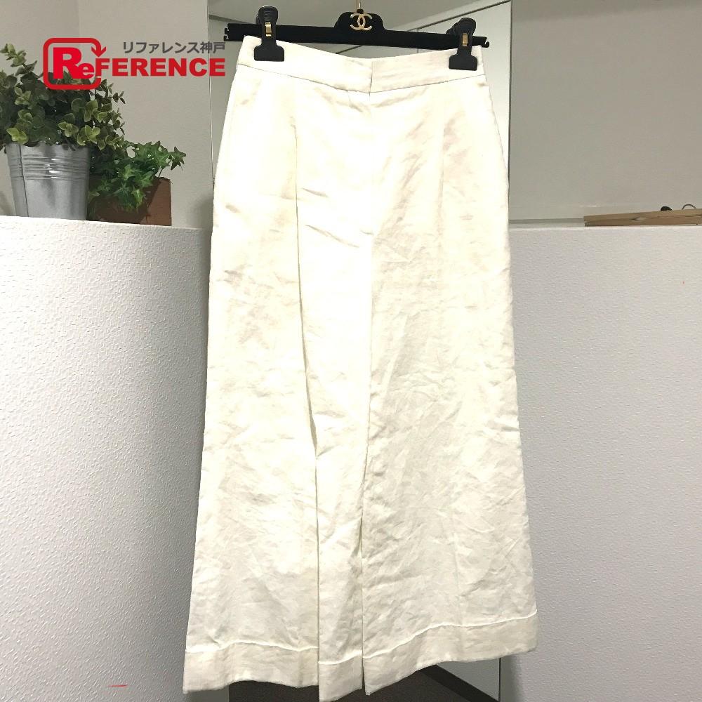CHANEL シャネル P55660V41766 17P ボトムス 長ズボン ズボン パンツ ホワイト レディース【中古】