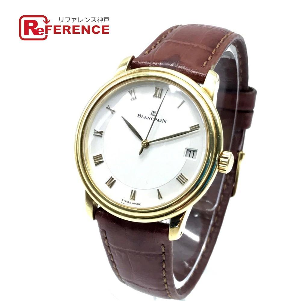 日本製 Blancpain ブランパン 1158 メンズ腕時計 ヴィルレ ヴィルレ 腕時計 ウルトラスリム イエローゴールド×ブラウン デイト 腕時計 K18YG/ 革ベルト イエローゴールド×ブラウン メンズ【】, HEALTY:4a6d5420 --- baecker-innung-westfalen-sued.de