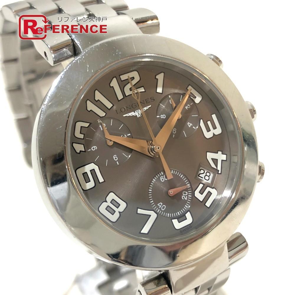 LONGINES ロンジン L5.677.4 メンズ腕時計 ドルチェヴィータ クロノグラフ デイト 腕時計 SS シルバー メンズ【中古】