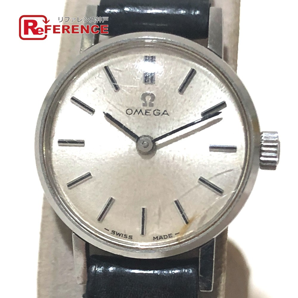 OMEGA オメガ ヴィンテージ レディース腕時計 アンティーク 腕時計 SS×革ベルト レディース シルバー×ブラック 【中古】