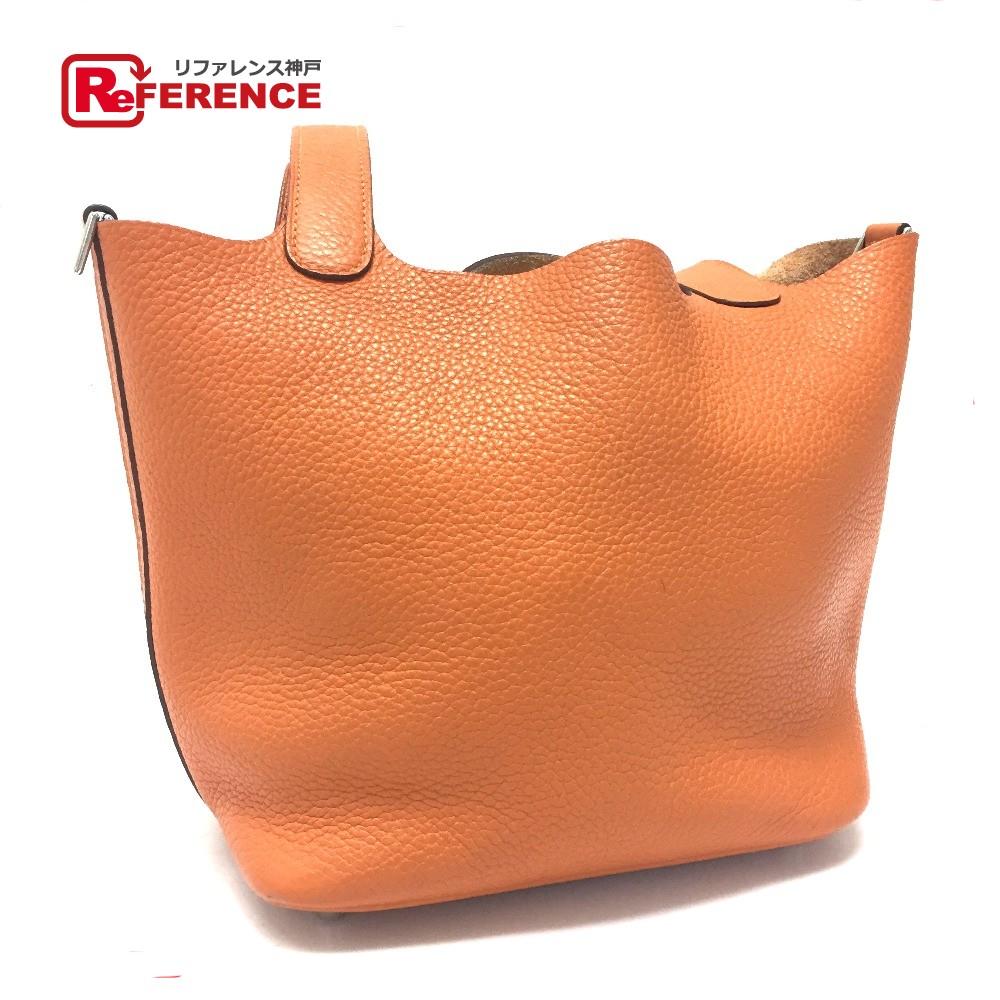 中古 ピコタン 入荷予定 オレンジ HERMES 爆安 エルメス ハンドバッグ ピコタンロックPM レディース トートバッグ あす楽対応 トリヨンクレマンス 送料無料