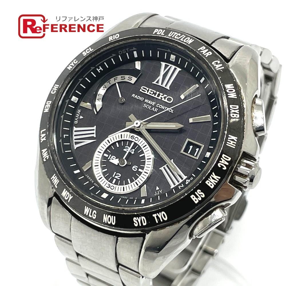 中古 セイコー 腕時計 SEIKO あす楽対応 送料無料 豊富な品 メンズ SS ブライツ SAGA089 シルバー 限定モデル ソーラー電波時計