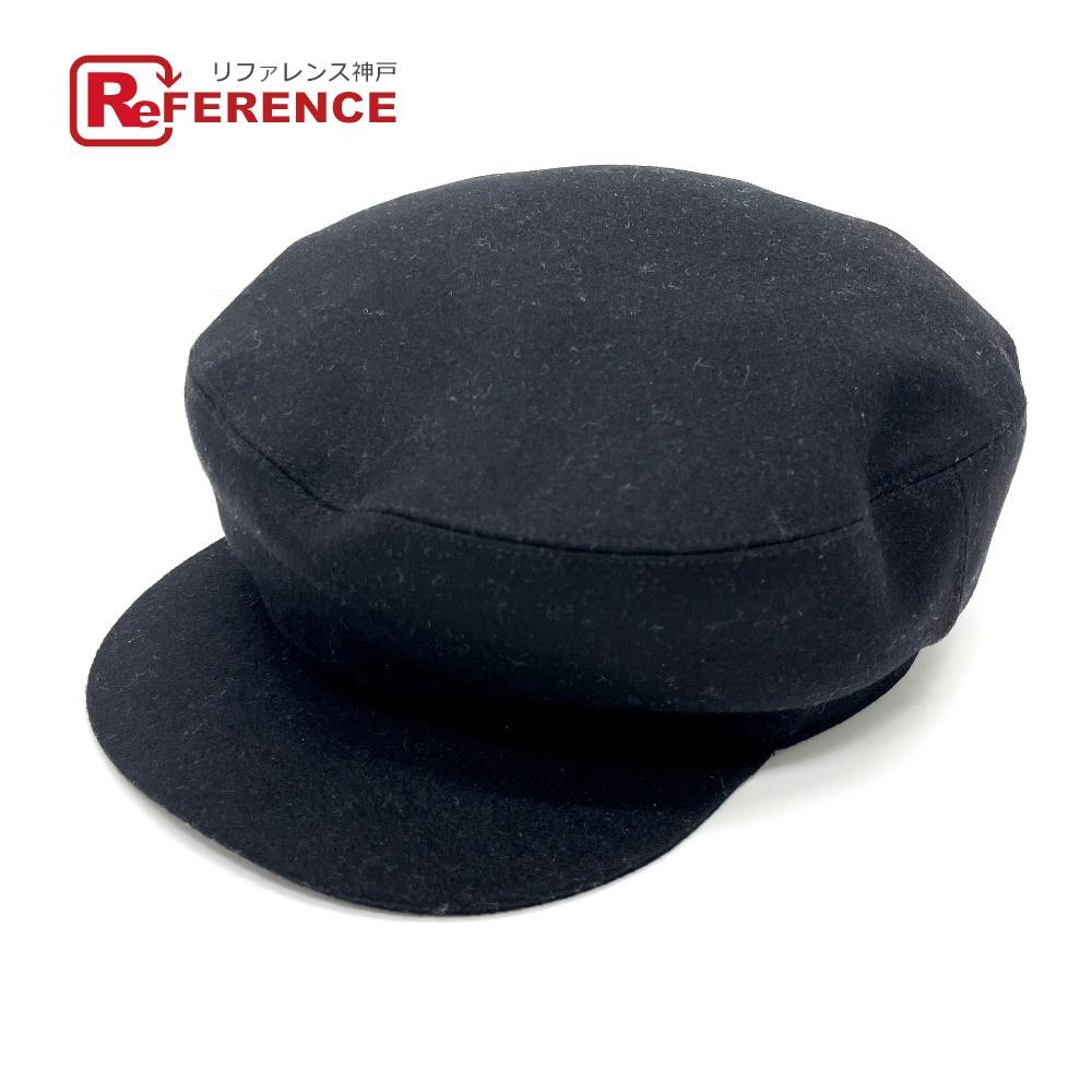 新品同様 ブランド 黒 おしゃれ セール 特集 HERMES エルメス 帽子 あす楽対応 送料無料 キャスケット DE BRIDES カシミヤ 中古 レディース レディース帽子 ブラック 上等 GALA