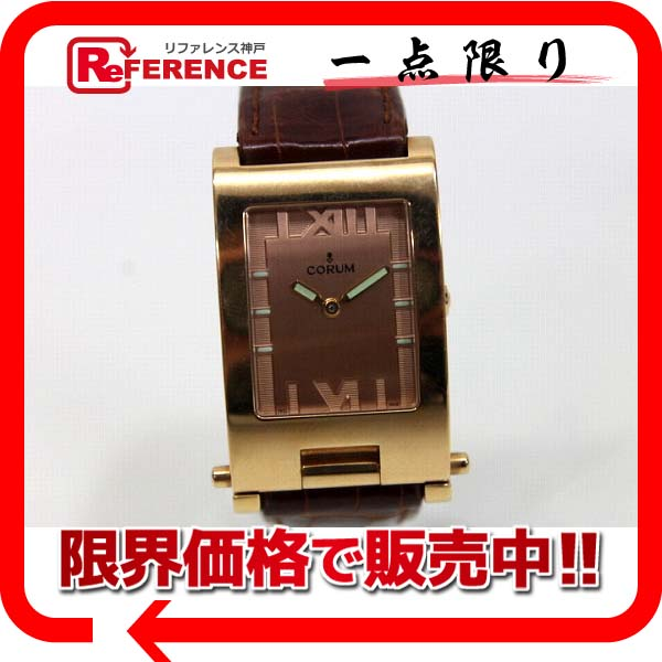CORUM コルム K18PG無垢 タボガン ボーイズ腕時計 クォーツ【中古】 KK
