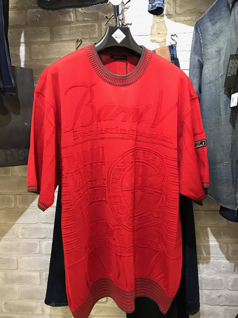 30%OFFBARNIVARNO大人気半袖セーターRED「バーニバーノ」(1万以上のお買い上げで送料無料)キャラクター(父の日ラッピング無料)キングサイズ3LサイズBSS-GSW2403-3L-45-定価¥35000