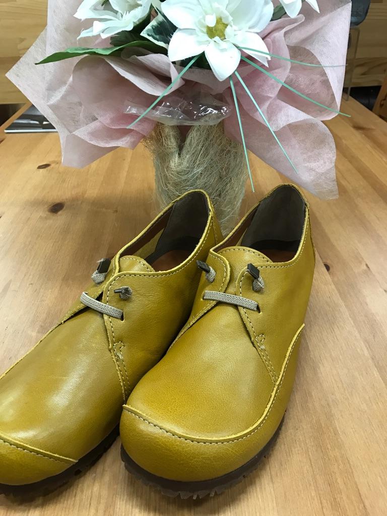 ミュール・シューズ『TRANQUILLO-イエロー』2017年大人気靴(1万以上のお買い上げで送料無料)5610-イエロー(ラッピング無料)MADE IN JAPAN(クッション抜群)TRANQUILLO-5610-YE