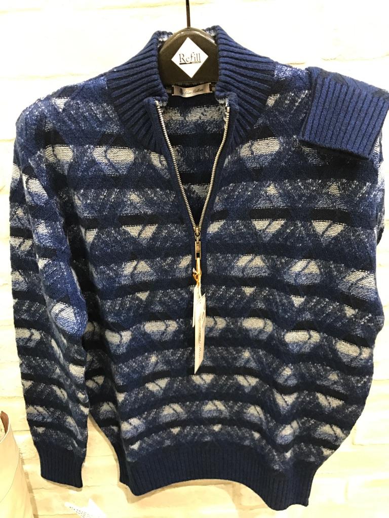 ピュアカシミヤ100%高級ネイビー大人気アイティーオージャパン秋冬セーター(1万以上のお買い上げで送料無料)「GEEGELLAN」「barassi」「VAGIIE」「ITOジャパン」(父の日ラッピング無料)紳士・メンズ8110-5414-55-69000