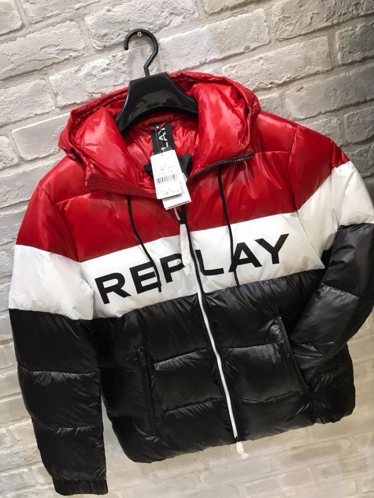 メンズ『REPLAY』ブルゾン『ダウン』イタリヤ(リプレイ)大人気(1万以上のお買い上げで送料無料)(ラッピング無料)M8008-010-46000