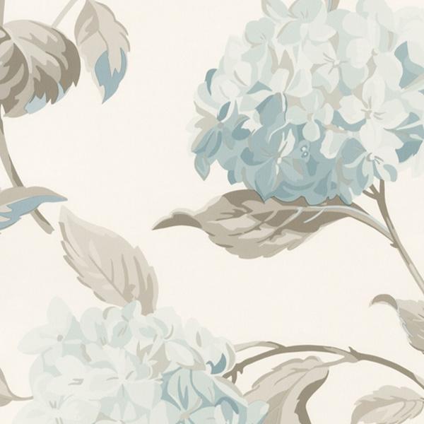 輸入壁紙/イギリス製/WallPaper Collection:LAURA ASHLEY(ローラアシュレイ)メーカー品番:LA17006/ハイドランジア/1ロール(巾53cmX10m)単位販売/紙壁紙/準不燃/領収書対応可
