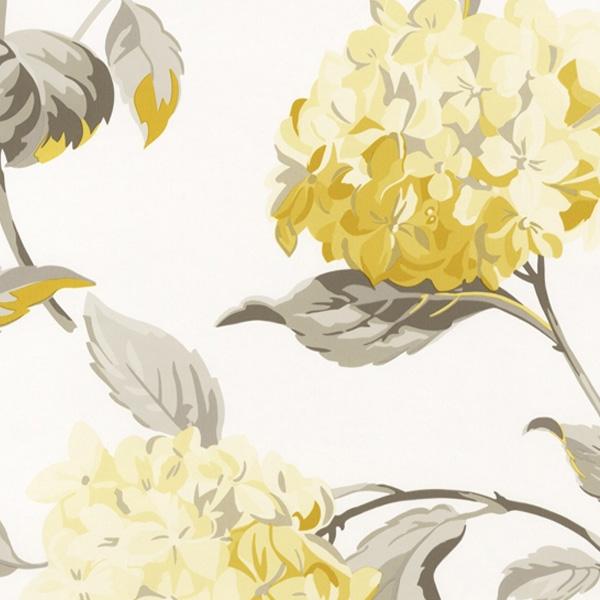 輸入壁紙/イギリス製/WallPaper Collection:LAURA ASHLEY(ローラアシュレイ)メーカー品番:LA17007/ハイドランジア/1ロール(巾53cmX10m)単位販売/紙壁紙/準不燃/領収書対応可