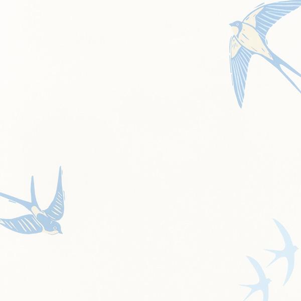 輸入壁紙/イギリス製/WallPaper Collection:LAURA ASHLEY(ローラアシュレイ)メーカー品番:LA17066/ブルーバード/1ロール(巾53cmX10m)単位販売/紙壁紙/準不燃/領収書対応可