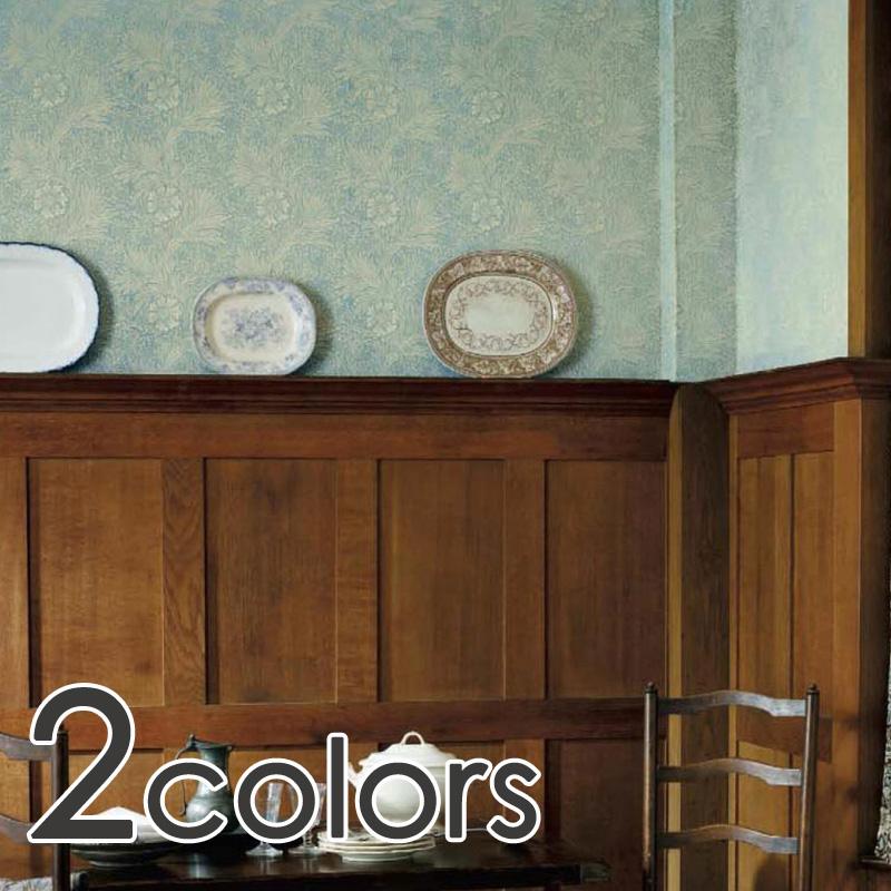 リリカラ/WD(ウォールデコ):イギリス製/Morris & Co.(ウィリアム・モリス)/メーカー品番:LY-14041,LY-14042/Marigold(マリーゴールド)/1ロール(巾52cm×10m巻)単位販売/紙壁紙/リピート:縦26cm横52cm/領収書対応可