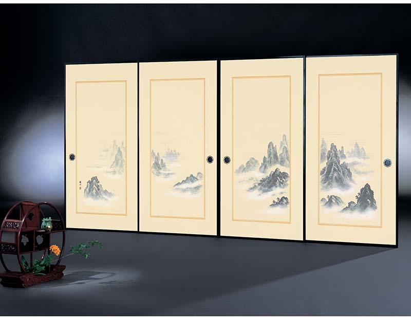 高級織物襖紙/株式会社太陽/朱雀第11集メーカー品番:152/4枚組/標準サイズ(巾97cm×丈203cm)単位販売/巾67cm×丈150cm/シックハウス対策