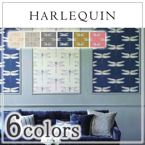 輸入壁紙/イギリス製/HARLEQUIN(ハーレクイン):HARLEQUIN(ハーレクイン)メーカー品番:111239,111241,111242,111243,111244,111245/Demoiselle/1ロール(巾52cm×10.058cm)単位販売/不織布/準不燃