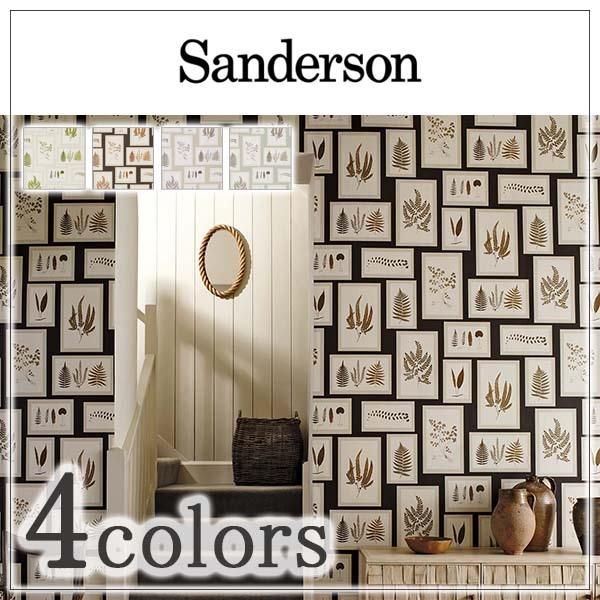 輸入壁紙/イギリス製/WOODLAND WALK WALLPAPERS:Sanderson(サンダーソン)メーカー品番:215712,215713,215714,215715/FernGallery/1ロール(巾68.6cmx10m)単位販売/不織布/F☆☆☆☆/不燃