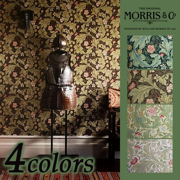 輸入壁紙/イギリス製/MorrisArchiveWallpapersII(モリスアーカイブ2):Morris(ウイリアム・モリス)メーカー品番:212541,212542,212543,212544/Leicester(レスター)/1ロール(巾52cmX10.05m)単位販売/紙/F☆☆☆☆/不燃