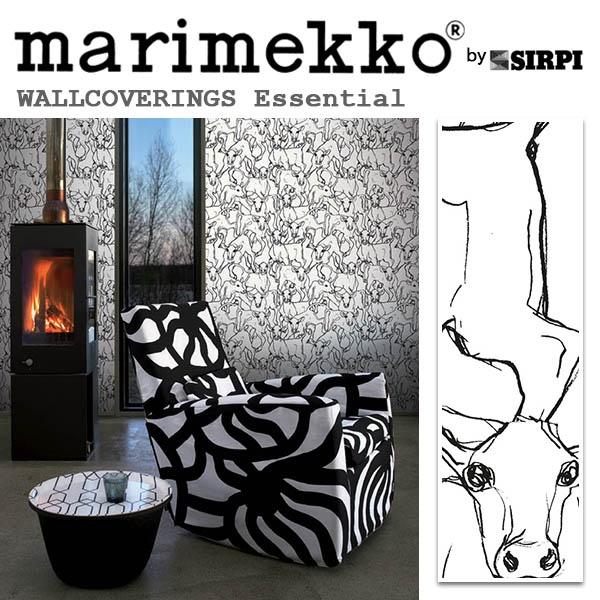 輸入壁紙/フィンランド(生産はイタリア)製/Essential(エッセンシャル):marimekko(マリメッコ)メーカー品番:14106/Iltavilli(イルタヴィッリ)/1ロール(巾70cmX10.05m)単位販売/不織布