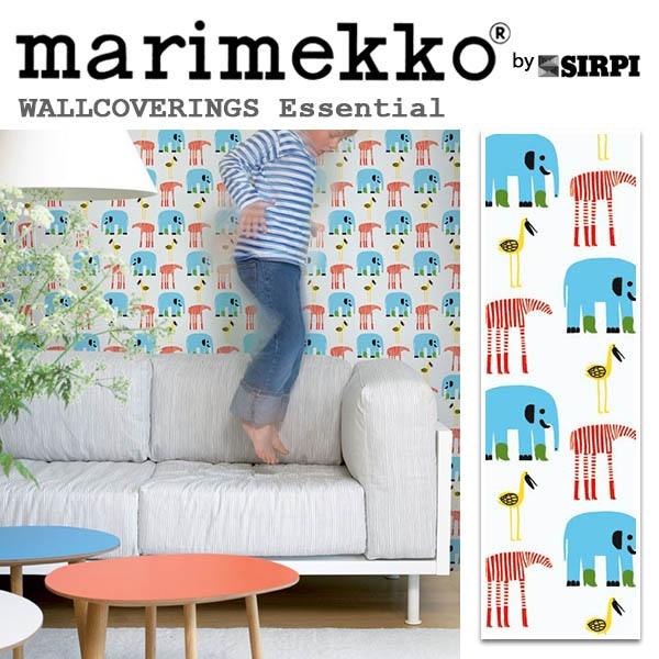 輸入壁紙/フィンランド(生産はイタリア)製/Essential(エッセンシャル):marimekko(マリメッコ)メーカー品番:14115/Karkulaiset(カルクライセット)/1ロール(巾70cmX10.05m)単位販売/不織布