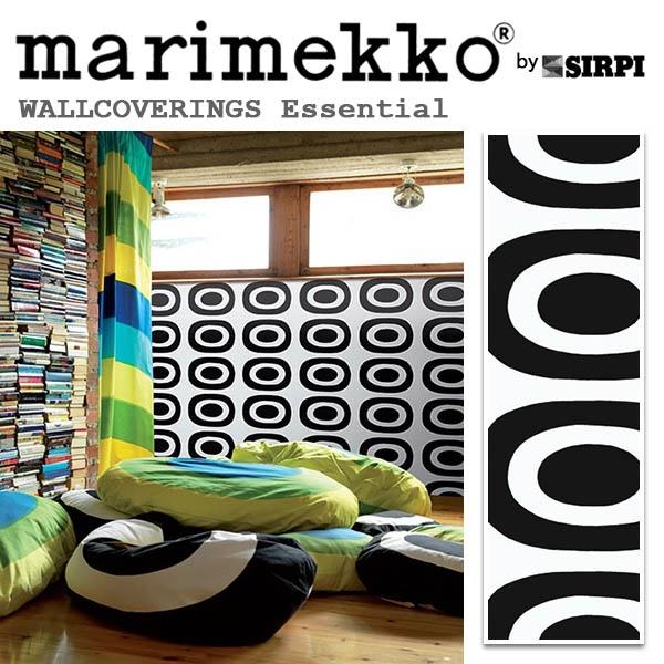 輸入壁紙/フィンランド(生産はイタリア)製/Essential(エッセンシャル):marimekko(マリメッコ)メーカー品番:14141/Pieni Melooni(ピエニ メローニ)/1ロール(巾70cmX10.05m)単位販売/不織布