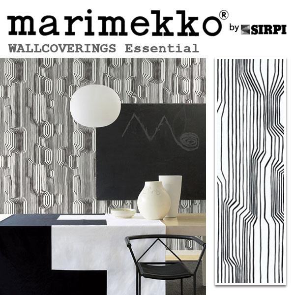 輸入壁紙/フィンランド(生産はイタリア)製/Essential(エッセンシャル):marimekko(マリメッコ)メーカー品番:13012/FREKVENSSI(フレクヴェンッシ)/1ロール(巾70cmX10.05m)単位販売/不織布PVCコーティング
