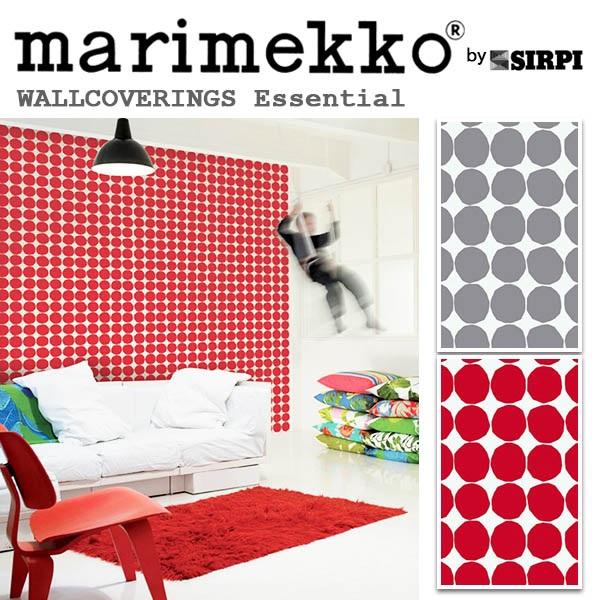 輸入壁紙/フィンランド(生産はイタリア)製/Essential(エッセンシャル):marimekko(マリメッコ)メーカー品番:13060,13062/PIENET KIVET(ピネ キベット)/1ロール(巾70cmX10.05m)単位販売/不織布PVCコーティング