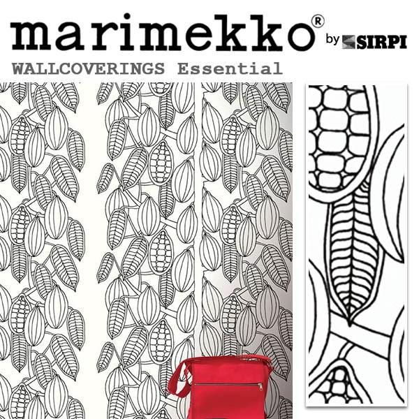 輸入壁紙/フィンランド(生産はイタリア)製/Essential(エッセンシャル):marimekko(マリメッコ)メーカー品番:14171/Kaakaopuu(カアカオプー)/1ロール(巾70cmX10.05m)単位販売/不織布PVCコーティング
